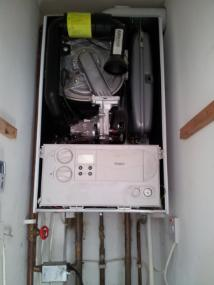 picture of a boiler ready for servicing