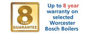 Up to 8 years warranty on some boilers